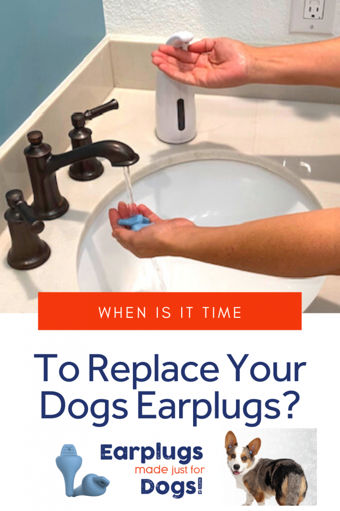 Do you know when it's time to replace your dogs earplugs? Sometimes, just keeping them clean isn't enough! #doghearing #doghealth