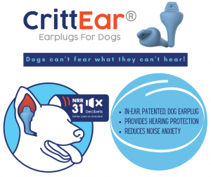CrittEar Calm dog earplugs