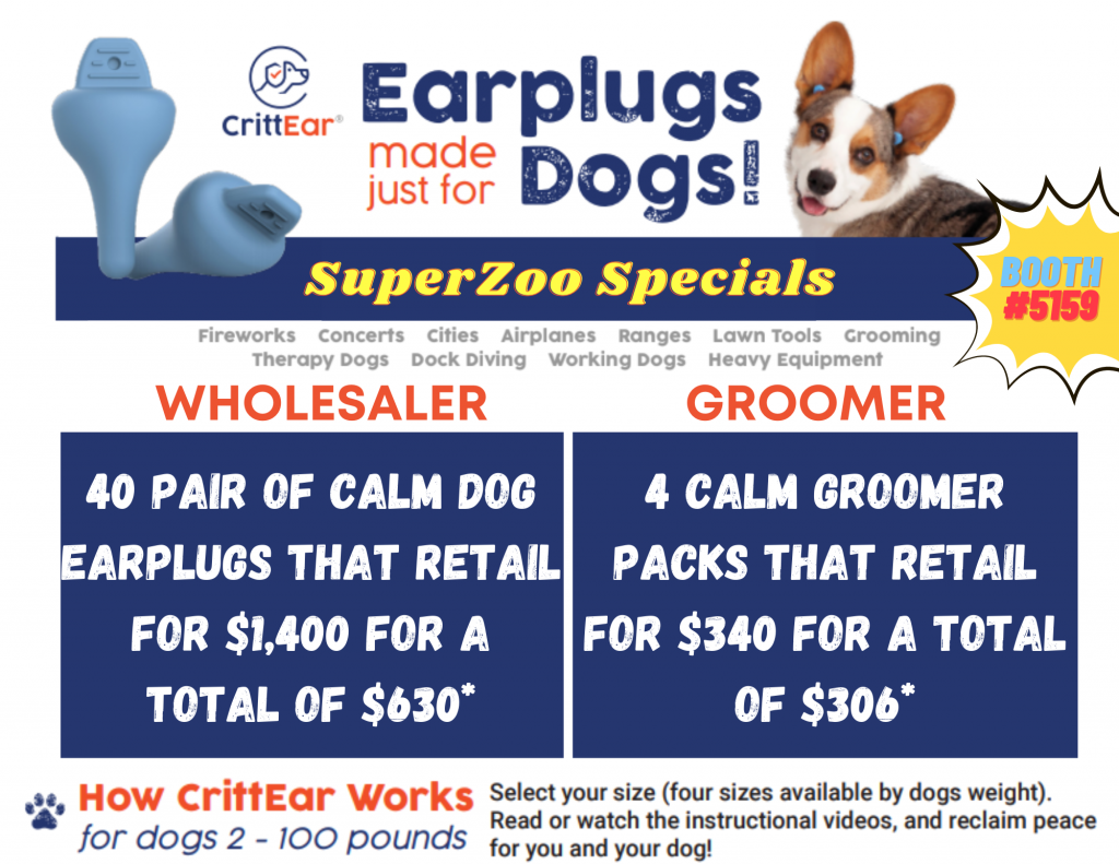 CrittEar Dog Earplugs at SuperZoo 2021 Specials